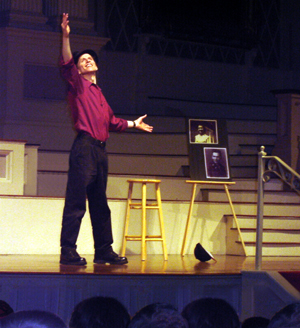 Michael Mack performing Hearing Voices, Speaking in Tongues at Mechanics Hall